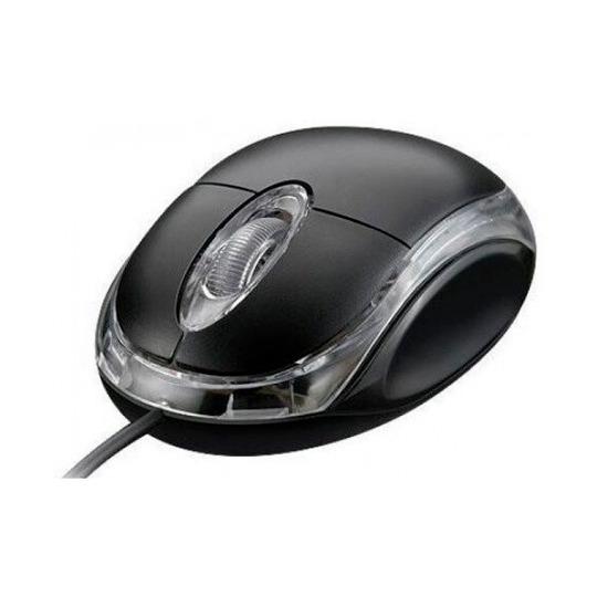 Mouse Óptico Preto Usb Exbom Ms-10 1000dpi