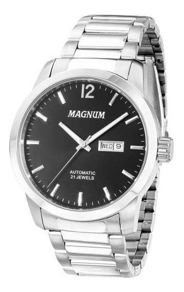 Relógio Magnum Masculino Automático Ma33835t *21jewels
