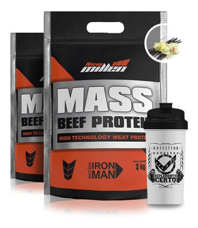 Combo 2x Mass Beef Protein 3kg New Millen + Coqueteleira