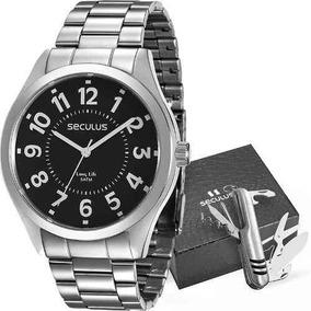 Kit Relógio Masculino Seculus Analógico 28866g0svna3kz