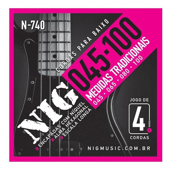 Encordoamento Nig 045 Contra Baixo 4 Cordas 045 100 N740