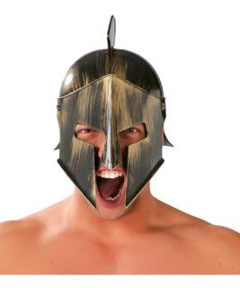 Casco Spartano Yelmo Bronce Plástic Gladiador Romano Los 300