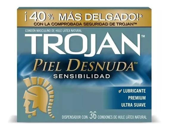 Trojan Piel Desnuda Condones 36 Piezas Envío Full