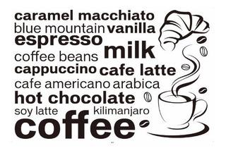 Vinilo Decorativo Cafe - Papel Tapiz Adhesivo Pared Coffee