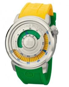 Relógio Masculino Yankee Street Verde-amarelo C/nf Ys30167x