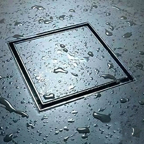 Ralo Metal Inox Invisível Oculto 10x10cm Kelter Não É Pvc