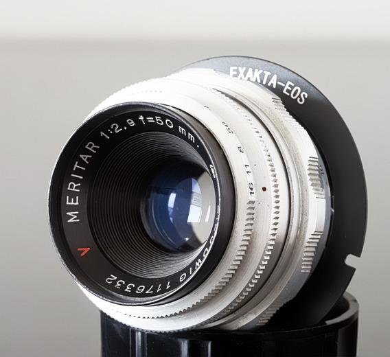 Lente 50mm F2.9 Ludwig Meritar + Adaptador Novo Canon Ef\eos