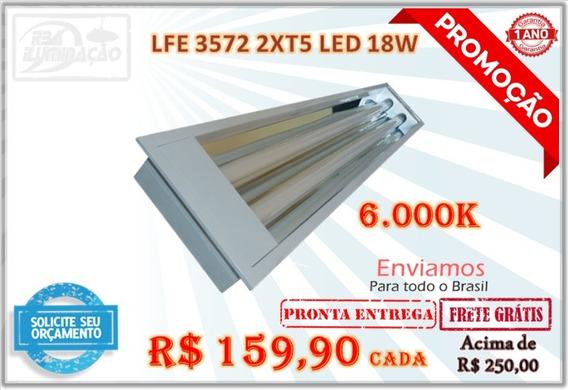 Luminária Completa Com 02 Lâmpadas 18w T5 Led 6000k