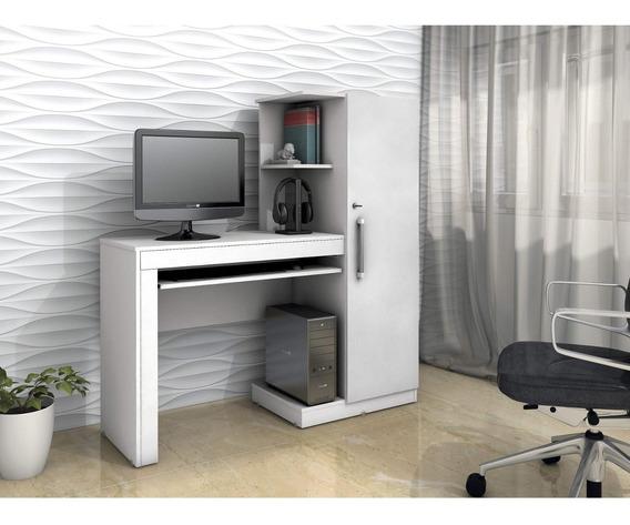 Mesa Para Computador 1 Armário E Prateleira Office D