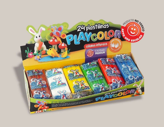Plastilina Playcolor Caja X 24 Unidades