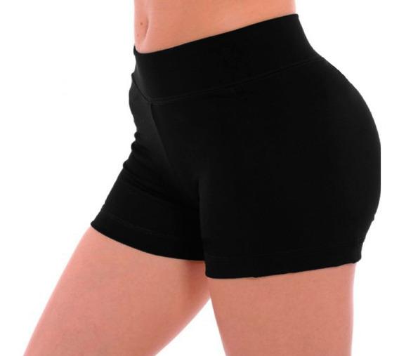 Short Tiro Alto Debajo Ombligo 100%lycra Mujer Standar Xs-xx