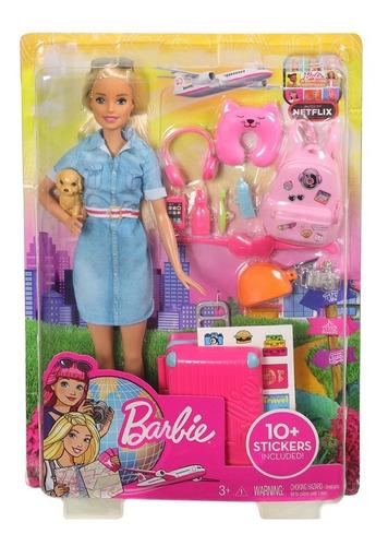 Imagen 1 de 3 de Barbie Explora Y Descubre Barbie Viajera