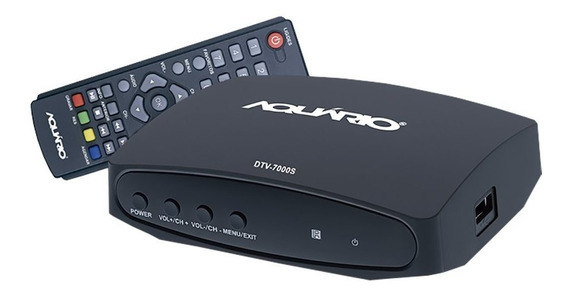 Conversor Digital Aquário Dtv-7000s Full Hd Função Gravador