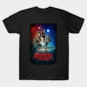 Remera Negra Stranger Things Niño Niña 21 Firefly