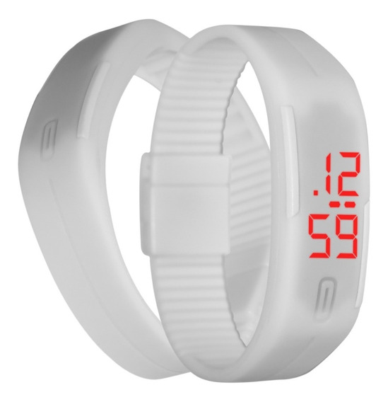 Reloj Touch Digital Deportivo De Pulsera Color Blanco M1142