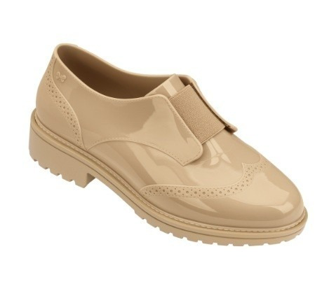 Sapato Feminino Zaxy Point Oxford 17507 - Bege