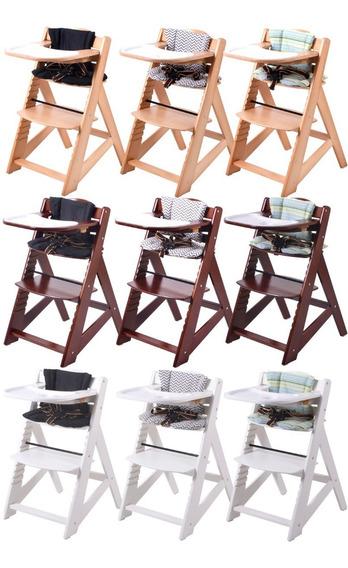 Silla Comer Bebe Madera Full Alpine Chair 6 Meses A Adultos