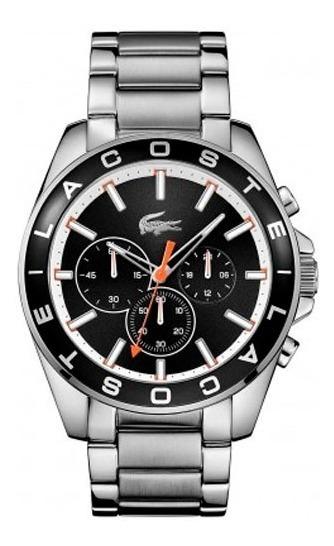 Relógio Lacoste Masculino Aço Fundo Preto -2010855 Original
