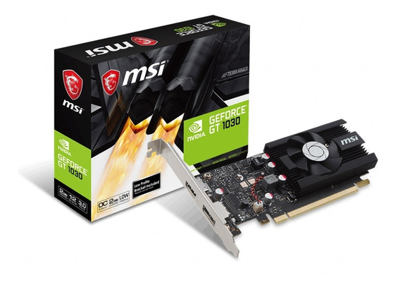 Placa De Video Msi Geforce Nvidia Gt 1030 2gb Low Profile