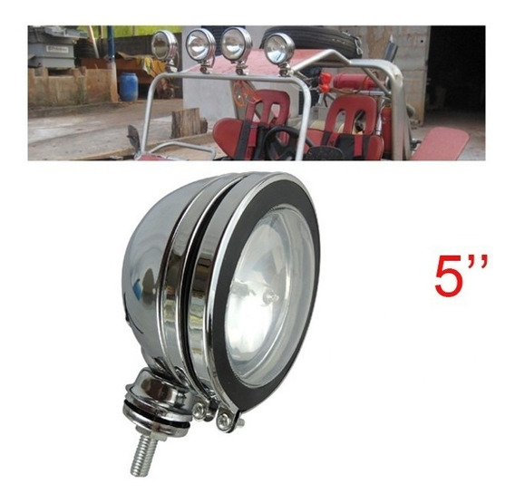 Farol De Milha Off Road 5 Jeep Buggy Pick Up Fusca Triciclo