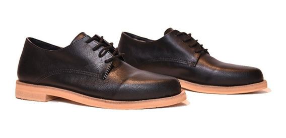 Zapatos Mujer Plataforma Acordonado Clasico Punta Finaverano