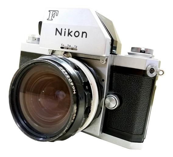 Câmera Nikon F Com Lente 50 Mm F1.8