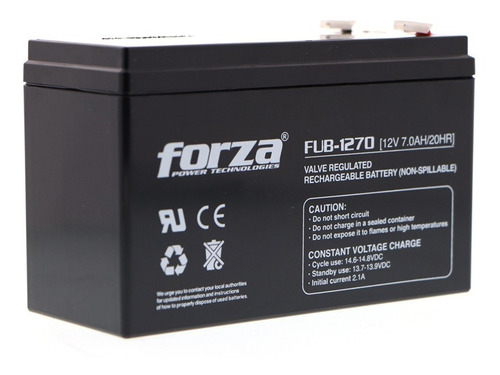 Bateria Para Ups Forza Fub-1270 12v7a Acido De Plomo Sellada