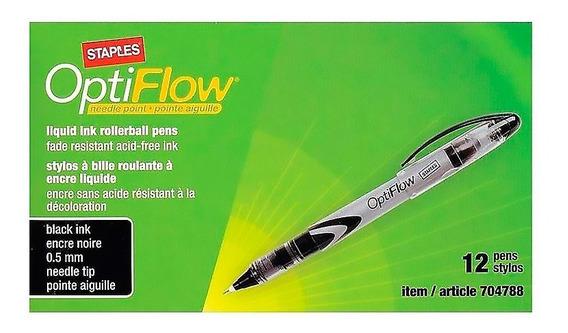 Lapicera Rollerbal 0.5mm Optiflow Punta Media Pack X12