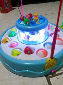 Pesca Infantil 10 Peixes Peq E 16 Grandes - Som Luzz