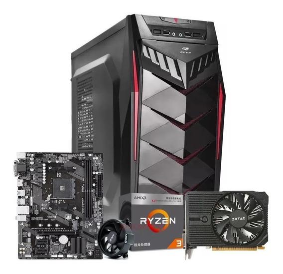 Pc Gamer Ryzen 3 2200g + 8gb Ddr4 + Gtx 1050ti + Ssd 120gb