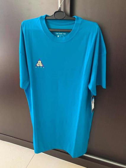 Playera Nike Acg (nueva) Azul - Talla M