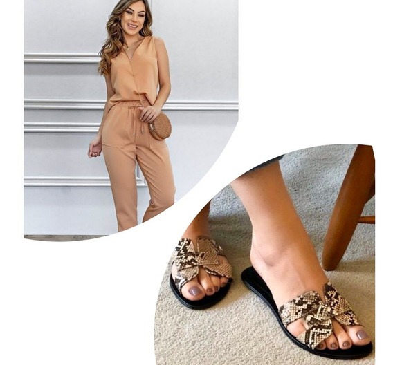 Rasteira Sante Shoes Animal Print