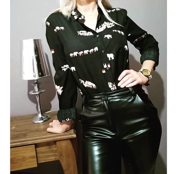 Camisa Estampada Honna