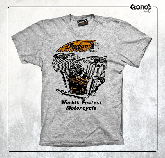 Remera Indian Motorcycle Cafe Racer Retro Motos Indian Chief