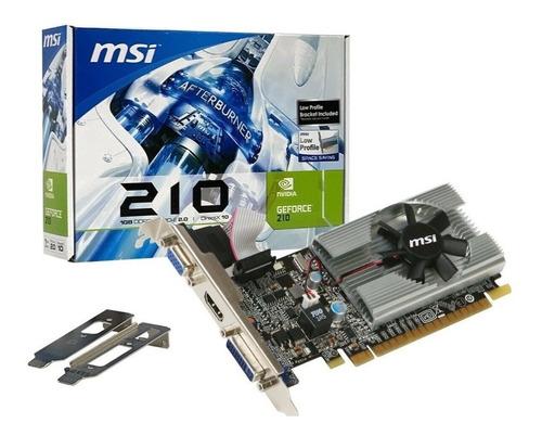 Imagen 1 de 2 de Tarjeta Gráfica Msi Geforce 210 1gb Ddr3 - 64-bit Hdmi/dvi/v