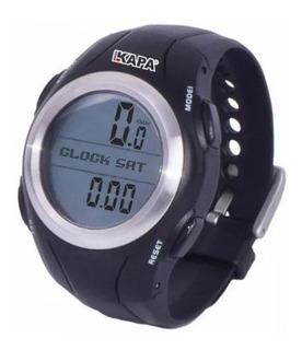 Relógio Monitor Cardíaco E Ciclocomputador Kapa Bikes 29 Funções Preto