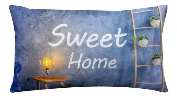 Cojin Decorativo Sala Cama Sweet Home 24x40 Cm