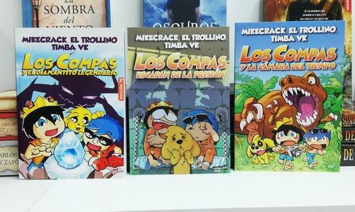 Los Compas 3 Libros Coleccion Mikecrack Trollino En Oferta