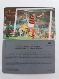 Cartão Raro Da Telebrás 03/97. Flamengo