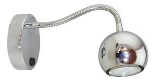 Aplique Cabecera Cama Flexible Con Tecla Velador Gu10 Venus