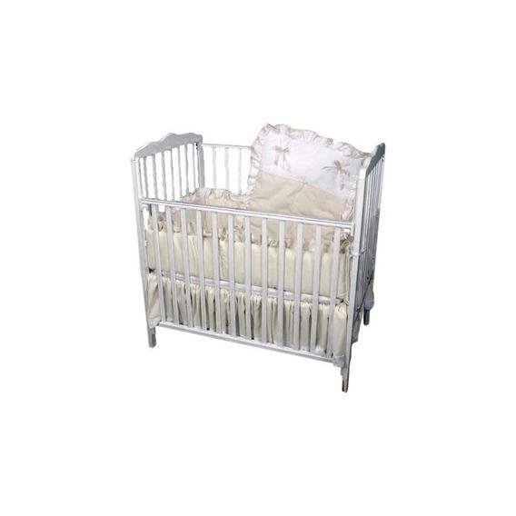 Baby Doll Bedding Pretty Pique Mini Cuna / Port-a-crib, Ecru