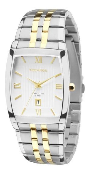 Relógio Technos Masculino Quadrado Executive 1n12mq/5b + Nf