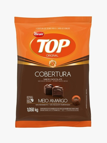 Imagen 1 de 3 de Chocolate En Gotas Semiamargo Harald Top 1kg