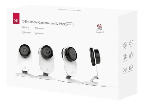 Kit 4 Camaras Seguridad Inalambricas Xiaomi 1080p Yi Home