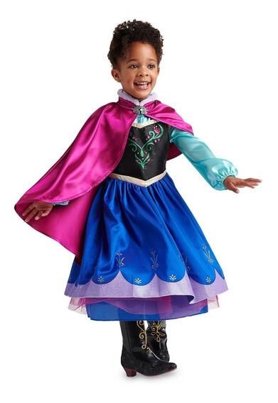 Vestido Anna Frozen Original Marca Disney Importado De Wdw