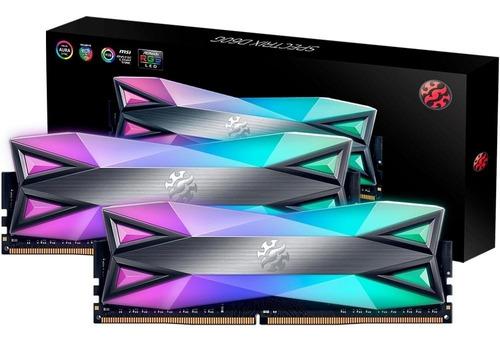 Imagem 1 de 4 de Memoria 16gb 3000mhz 2x8gb Spectrix D60g Rgb Xpg Adata