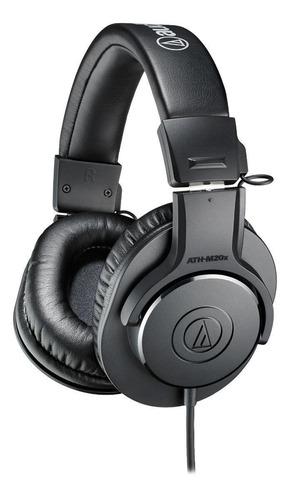Imagen 1 de 4 de Audífonos Audio-Technica M-Series ATH-M20x negro