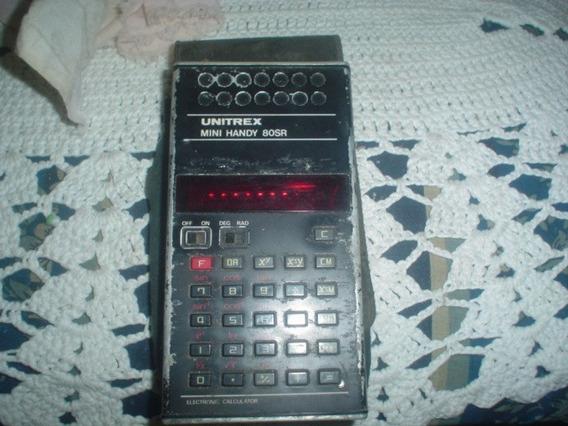 Calculadora Antiga Unitrex Display Vermelho