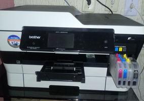 Impressora Brother Muito Nova Com. Obs. Cor Azul Com Def