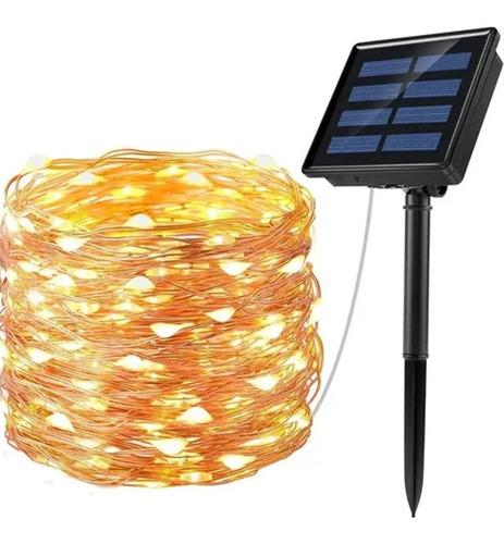 8 Modos Led Luces Solares Exterior Para Decoración 10m